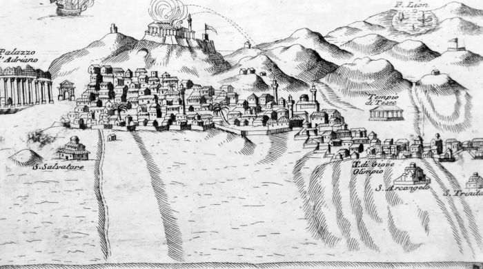 View of Ottoman Athens under attack by the Venetians