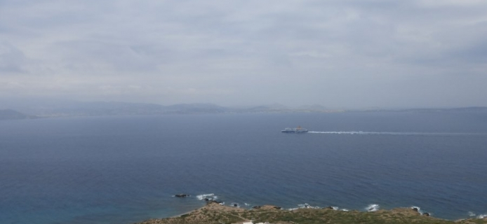View from Stelida towards Paros