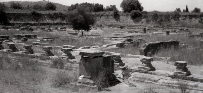66-10-021: Olympia, Leonidaion, panoramic view of remains