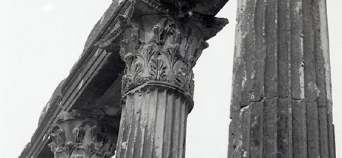 Standing columns from the Temple of Zeus at Euromos. (Professor Fred Winter, 1988)