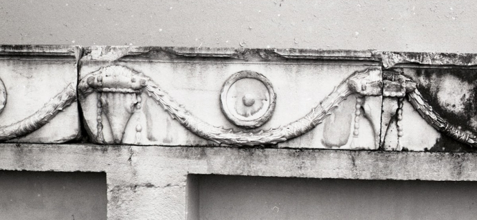 Doric architrave with garlands and bucrania, from the Bergama Museum. (Professor Fred Winter, 1988)