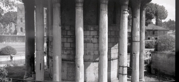 Round Corinthian temple from the Forum Boarium at Rome. (Professor Fred Winter, 1988)