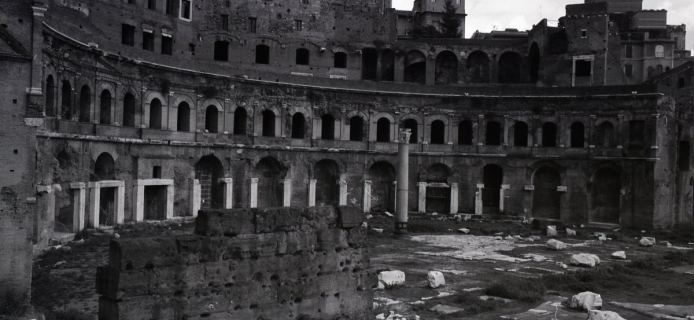 88-19-031: Rome, Forum of Trajan, view of the surviving portion of the Mercati Traianei