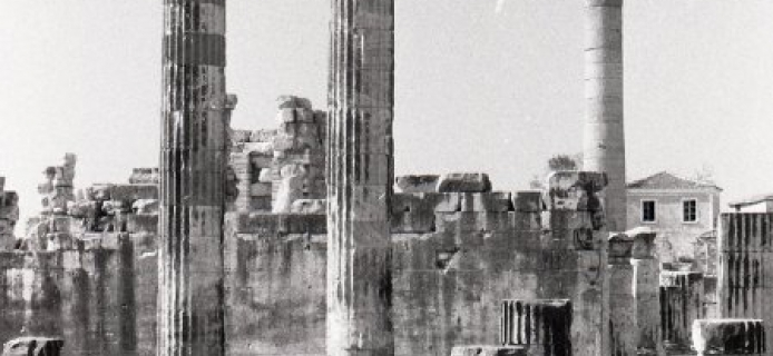 57-04-018 Didyma, E part with standing columns from N