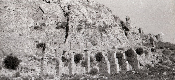 57-07-025 Sillyon, built road up cliff-face to acropolis